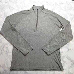 Patagonia Medium Gray Base Layer Shirt 1/4 zip